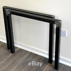 Set of 2 Heavy Duty Industrial Frame Steel Metal Table Legs Dining/Bench/Desk
