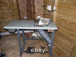 Sewing Overlocker Machine On Table Heavy Duty Industrial (rimoldi) Three Thread