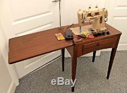 Singer 401G Slant O Matic Heavy Duty Semi Industrial Sewing Machine Work Table