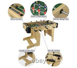 Soccer Foosball Football Room Game Heavy Duty Foldable Game Table For Family