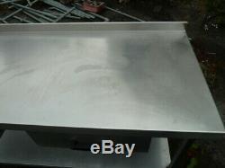Stainless Steel Preparation Bench Work Table Kitchen Food Restaurant Heavy Duty