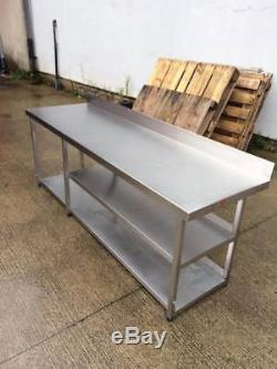 Stainless Steel Table/ Stand With 2 Under Shelves/ Heavy Duty/ Fully Welded