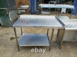 Stainless steel worktop table for kitchen heavy duty commercial 120X70X90 CM