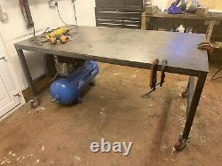 Steel Welding Table Heavy Duty Work Bench 2000x1000 2x1m 10mm Thick Top