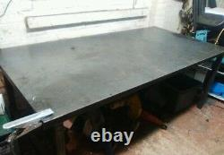 Steel Welding table 2500x1250mm 8x4 foot heavy duty packing workshop, garage