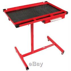 Sunex 8019 Heavy Duty Adjustable Mechanics Mobile Tool Cart Work Table With Drawer