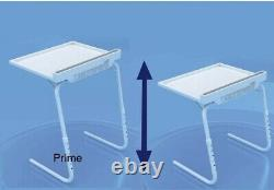 Table Mate Express Adjustable and Folding Table Heavy Duty Spill Proof iPad Bed