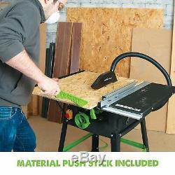 Table Saw 255mm Blade Heavy Duty Steel Wood Metal Cutting Fence Push Stick 240V