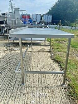 Table Stainless Steel Splashback Heavy Duty Commercial Catering Equipment