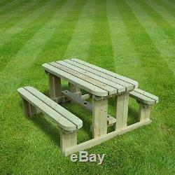 Tinwell Junior Rounded Picnic Table Children's Bench Heavy Duty