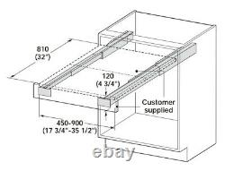 TopFlex Pullout Heavy-Duty Kitchen Table System Fittings Kit