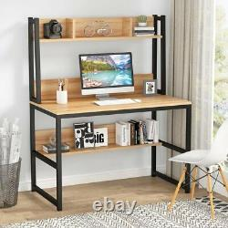 Tribesigns Computer Desk with Hutch Modern Heavy Duty Office Table Workstation