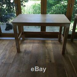 Two solid heavy-duty wooden work benches / tables / desks / handmade