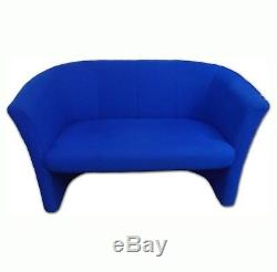 Used Blue Reception Seating 2 Seater Sofa, Tub Chair & Coffee Table £275 + VAT