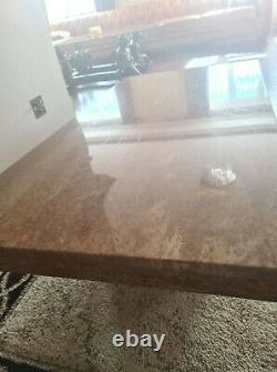 Used Stunning Large coffe Table heavy Duty Marble Collection only