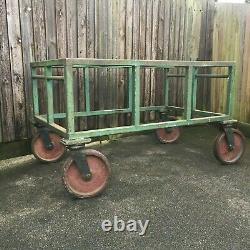 Very Heavy Duty Industrial Factory Mobile Work Table Bench 4 Flexello Castors