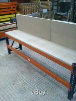 Very heavy duty pallet racking work bench/workstation/packing table