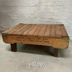 Vintage Industrial Coffee Table made from Heavy Duty Pallet