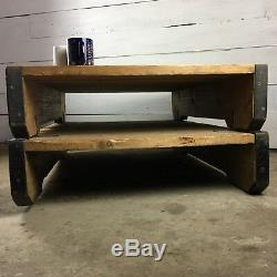 Vintage Industrial Coffee Table made from Heavy Duty Pallets