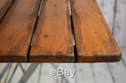 Vintage Industrial Heavy Duty Folding Cafe Bar Garden Table 6 AVAILABLE inc VAT