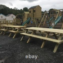 Wheelchair Accessible Wooden Picnic Table seating, heavy duty, picnic area, eat