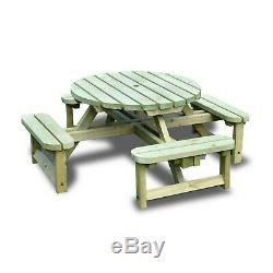 Whitwell Junior Circular Wooden Table Childrens Picnic Bench Heavy Duty