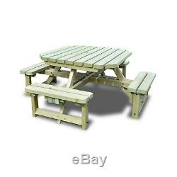Whitwell Junior Octagonal Wooden Table Childrens Picnic Bench Heavy Duty