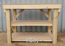 Wooden Garage Workbench MDF Top 18mm Industrial Heavy Duty Table
