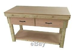 Wooden MDF Top Workbench With Drawers Industrial Heavy-duty Garage Storage Table