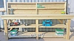 Wooden Pressure Treated Workbench Work Table Industrial Bench Heavy Duty