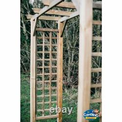 Wooden Straight Pergola, Outdoor, Garden, Heavy duty, chairs, Picnic table, Seating