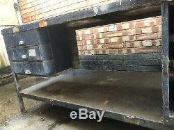 Workshop Garage Table Large Heavy Duty Welding Metal Steel 6ft x 3ft Drawers