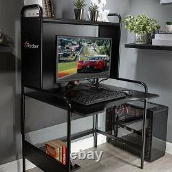 X Rocker Gaming Desk Metal Home Office Table Adjustable Shelves PC Tray Icarus