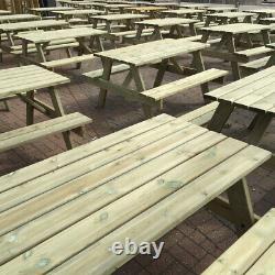 1 X Table De Pique-nique 5ft / Pub Bench/ Wooden/ Heavy Duty. Pression Traitée