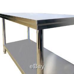 1000x600x800mmh 304 Cuisine En Acier Inoxydable Banc Cuisine Professionnelle Table De Préparation