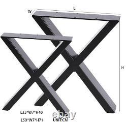 2 X Heavy Duty Large X Forme De Table Jambes De Table À Manger Banc De Café Bureau Jambe Cross Design