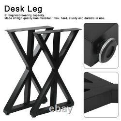 2 X Table/jambes En Métal Acier Industriel Salle À Manger/bench/bureau/desk 45x71cm