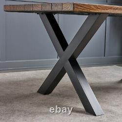 2x Heavy Duty Metal X Cross Shape Table Legs Bench Dining/coffee Table/desk Uk