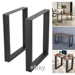 2x Industriel Dinning De Table De Table De Dinage De Poids Lourds Pieds En Métal De Meubles Box Frame