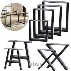 2x Pieds De Table En Métal Industriel En Acier Lourd Cadre De Jambe Table De Table De Bureau Base De Table