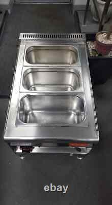 3 Pot/pan Table/counter-top Wet Bain Marie (heavy Duty)