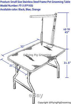 32 Cadre En Acier Inoxydable Heavy Duty Pet Dog Grooming Table Avec Bras Par Flying Pig