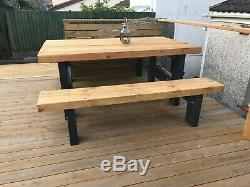 3thick Heavy Duty Table Pique-nique. Biergarten Table À Manger Pour Les Pubs, Restaurants