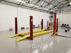 4 Poteaux D'alignement 6.5t Avec T / Tables Slips Jack 5.8m. Plateformes 3300 £ + Tva