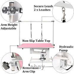 44 Poids Lourds Ascenseur Hydraulique Pet Dog Grooming Table Réglable H Bras 2 Laisse