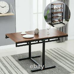 5 Niveau Bibliothèque Bibliothèque Transform Table À Manger Pour Cuisine Salon Chambre