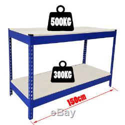 500 KG Heavy Duty Travail Des Métaux Banc Garage Atelier Table Workbench Station Uked