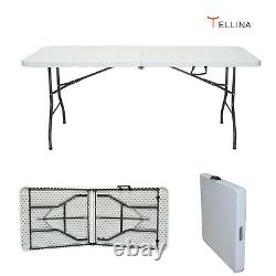 5ft Pliage Chevalets Table Catering Camping Heavy Duty Picnic Bbq Indoor Outdoor