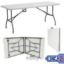 5ft Table Table Pliante Heavy Duty Camping Restauration Tréteau Pique-nique Barbecue