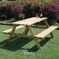 6 Seater Outdoor Garden Banc De Pique-nique 5ft Style Pub Table De Siège Lourd Nouveau